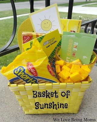 We Love Being Moms!: Basket of Sunshine.....wonderful gift of cheer!