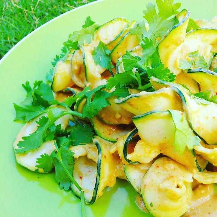 Satay Zoodles - quick easy vegan