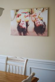 """Laynie and Belle: Canvas my way! DIY large """"canvas"""" art."""