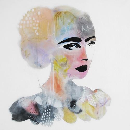 fashion illustration by erin flannery / 'sandy swallowed a rainbow'
