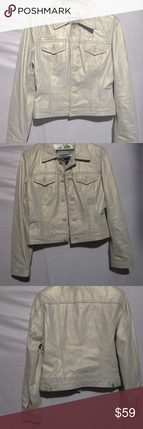 Wilsons Leather Pelle Studio Pearl White Jacket Wilsons