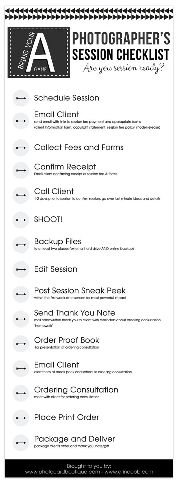 Free photographers workflow checklist BONUS Millers Lab tear off notebook template!                                                                                                                                                      More