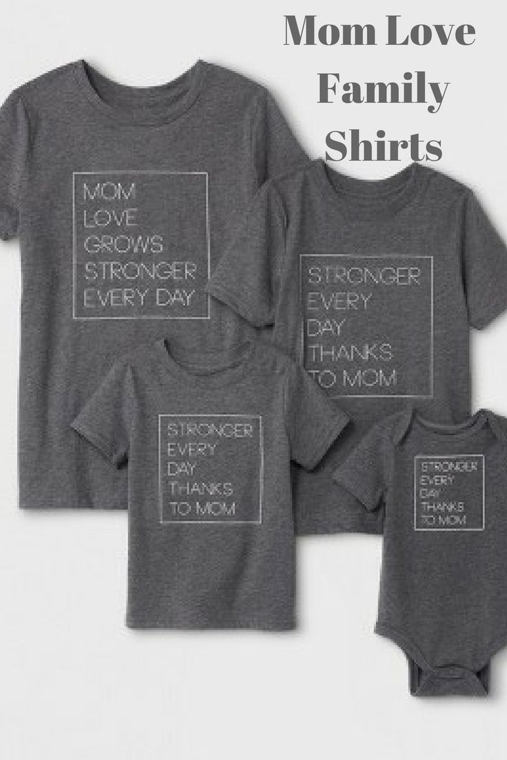 a9af3f3a1e6c2 Mom Love Grows Stronger Every Day, #affiliate, Mom T-Shirts, Family T-Shirts,  Gifts for Mom