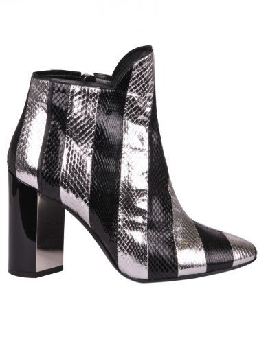 PIERRE HARDY Pierre Hardy Belle Striped Watersnake Ankle Boots. #pierrehardy #shoes #pierre-hardy-belle-striped-watersnake-ankle-boots