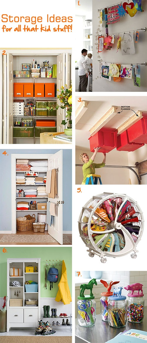 Storage ideas for all that kid stuff! #ClutterFree