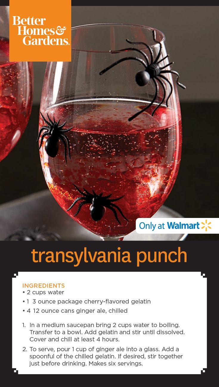 @bhg Transylvania Punch in Cielo Wine Glasses  #Halloween #recipe