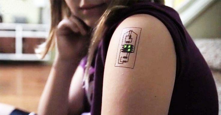 Bir Dövme Olarak Giyilebilir Teknoloji
