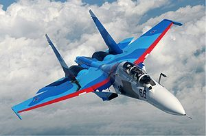 The Sukhoi Su-30 is a twin-engine, two-seat supermanoeuverable fighter aircraft developed by Russia's Sukhoi Aviation Corporation. It is a multirole fighter for all-weather, air-to-air and air-to-surface deep interdiction missions. Its primary users are Russia, India, China, Venezuela, and Malaysia.  Photo: Sergey Krivchikov