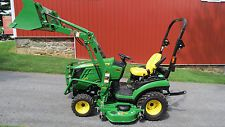2016 JOHN DEERE 1025R 4X4 COMPACT UTILITY TRACTOR W/ LOADER & BELLY MOWER 42 HRSfinance tractors www.bncfin.com/apply