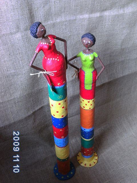Could make something like this with paper towel rolls and paper clay PICT0091 | Flickr : partage de photos !