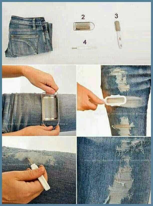 How To Make Ripped Jeans With Scissors - Legends Jeans