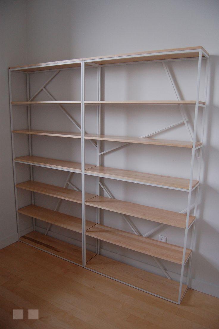 les 25 meilleures id es tendance biblioth que en m tal sur. Black Bedroom Furniture Sets. Home Design Ideas