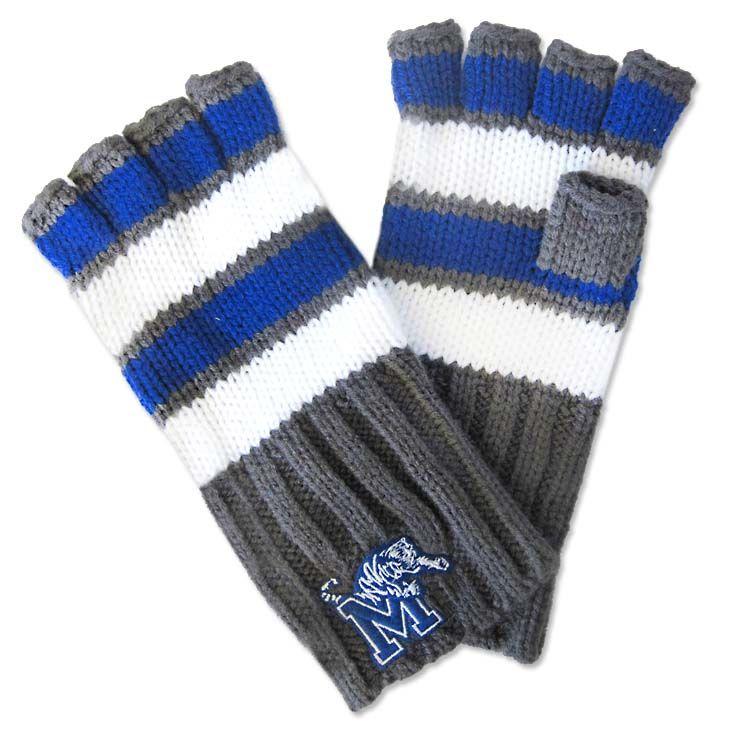 Fingerless Knit Memphis Tigers Gloves