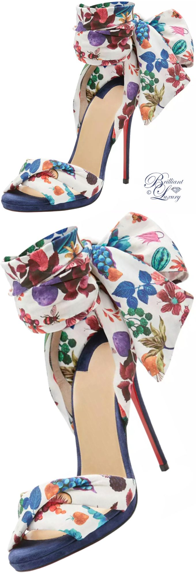 Brilliant Luxury ♦ Christian Louboutin Tres Frais Patterned Red Sole Sandal