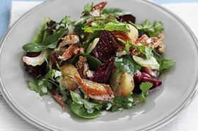 Mackeral and beetroot salad with walnuts from Anne Myers