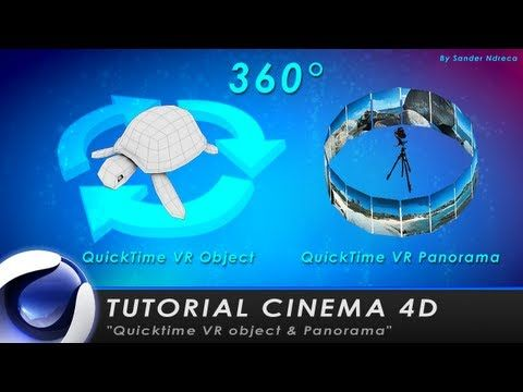 """TUTORIAL CINEMA 4D """"QuickTime VR Object & Panorama 360°"""" - YouTube"""