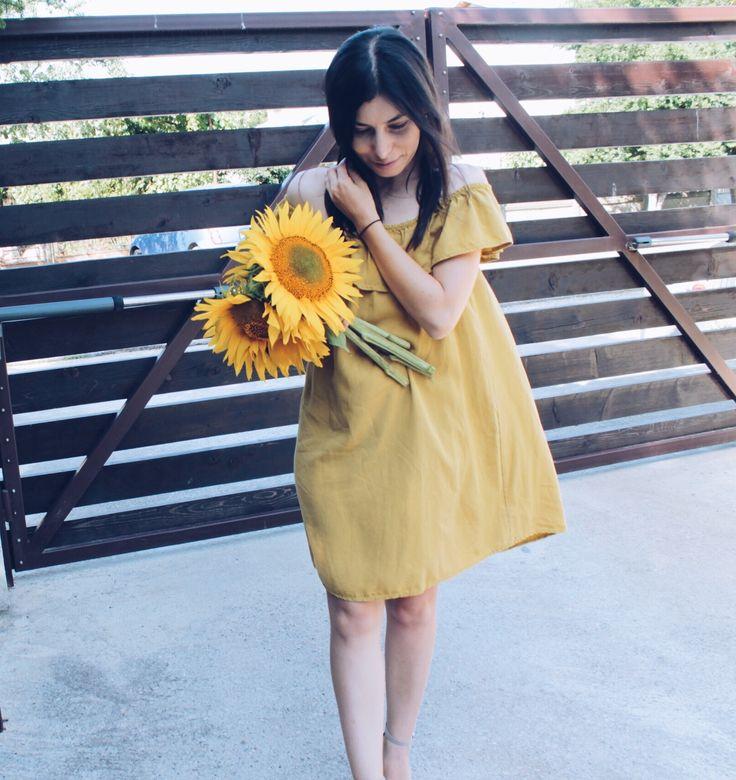 #dress #sunflower #yellow #summer #ootd