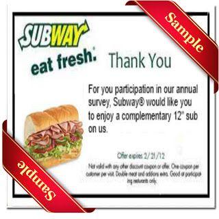 Printable subway Coupon May 2014