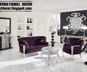 purple french provincial furniture/ living room