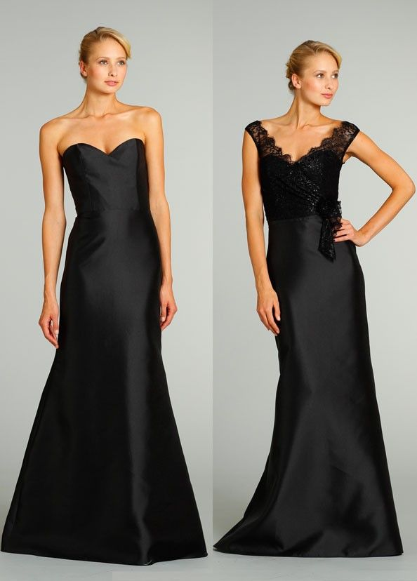 34 best images about Black Bridesmaid Dresses on Pinterest | Satin ...