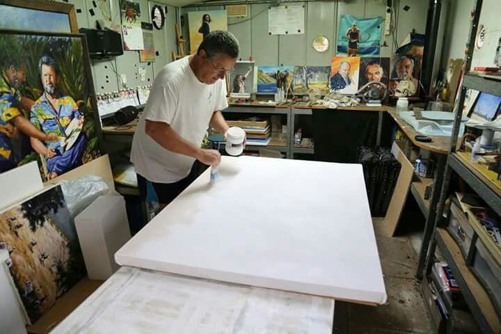 Dave Manning at work