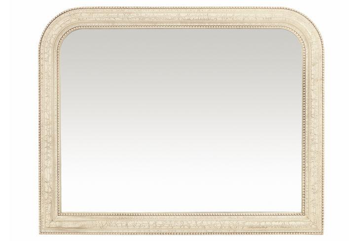 Laura Ashley - Olivia Ivory overmantle mirror