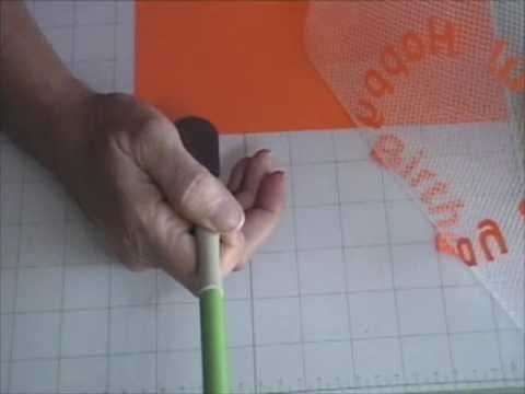 transfer letters from your  mat to your project in perfect alignment using drywall tape (magic mesh)