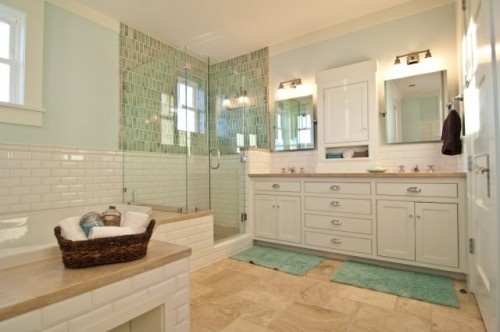 shower and subway tile