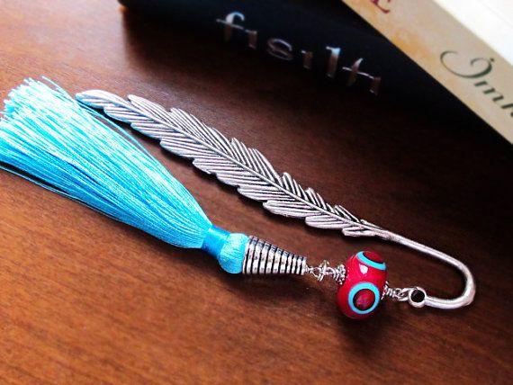 Metal Bookmark with Red Purple Lampwork by GlassHouseLampwork
