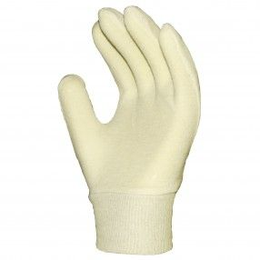 RONCO Cotton Inspection Glove Knitwrist http://ca.en.safety.ronco.ca/products/25/29/67/ronco-cotton-inspection-glove Made from 100% cotton, this medium weight glove offers protection to the wearer as well as his or her work process. Preferred by workers in assembly line, warehouse or quality inspection, RONCO inspection gloves are breathable and absorbent, can be washed for reuse, and protect products against scratches or smudges. They are also effective as a glove liner.