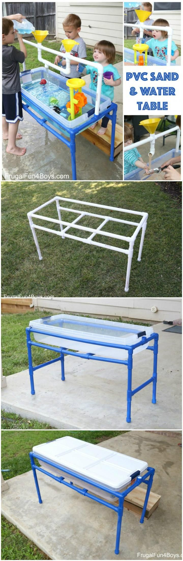 Homemade PVC Pipe Water and Sand Table - 60+ DIY Sandbox Ideas and Projects for Kids - Page 2 of 10 - DIY & Crafts