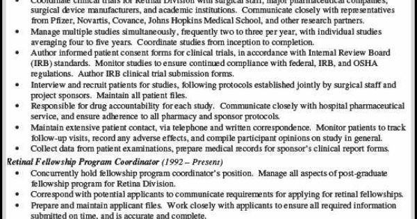 What Is Important in Making Clinical Research Associate Resume - clinical research coordinator resume