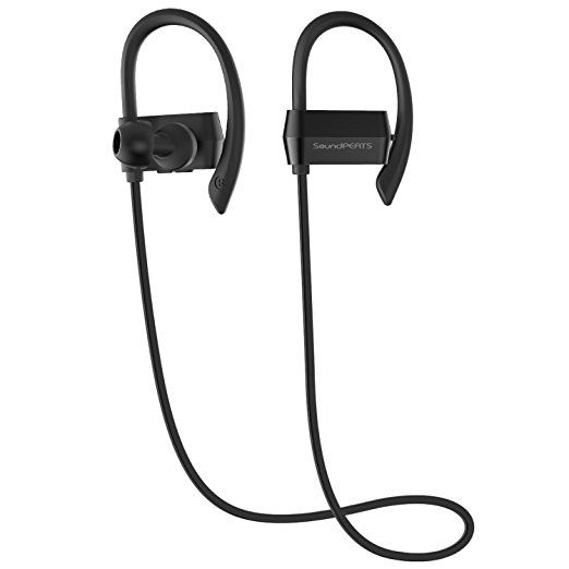 Bluetooth Headphones SoundPEATS Q23 Wireless Earphones Headset Over-Ear Noise Cancelling Sweatproof for Running with Mic Android/ iPhone 7 Plus/ Samsung and Other (Bluetooth 4.1, HFP,AVRCP, A2DP, 7 Hours Play Time)