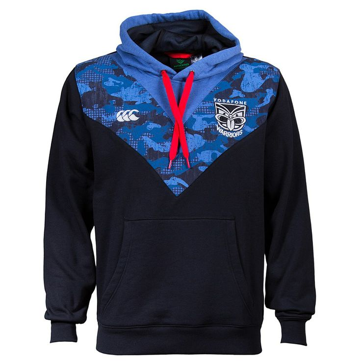 Mens Canterbury Clothing - CCC - Rebel Sport - CCC Mens NRL Warriors 2014 Camo Street Hoody