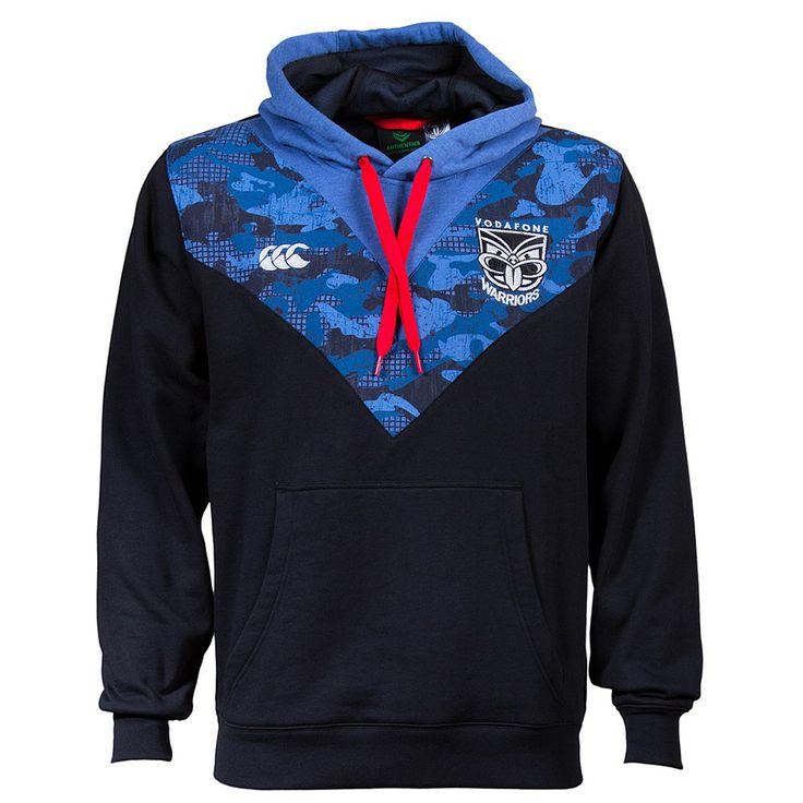 Mens Canterbury Clothing - CCC - Rebel Sport - CCC Mens NRL Warriors 2014 Camo Street Hoody
