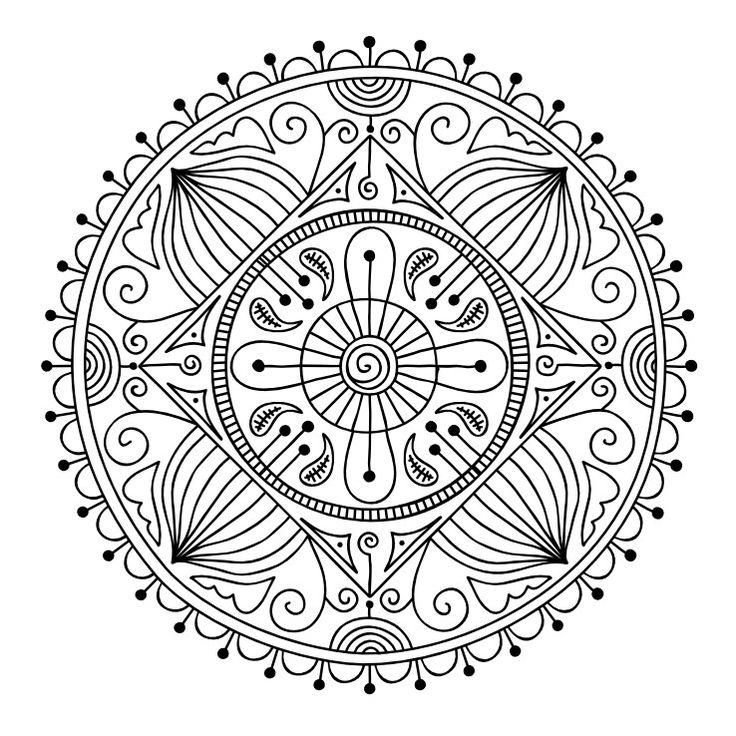 mandala coloring pages as therapy - photo#49