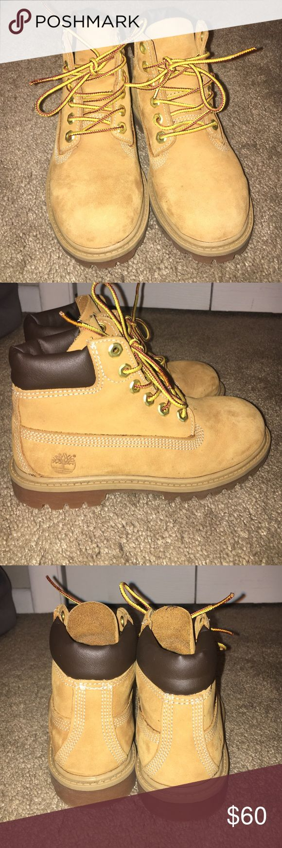 Kids timberland boots Bought these for my little sister she wore them once or twice she is very picky. They look brand new! Timberland Shoes Boots