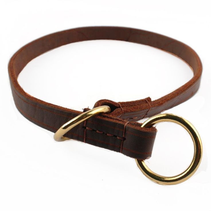 Full Grain Leather Choke Collar for Medium-Large Dogs