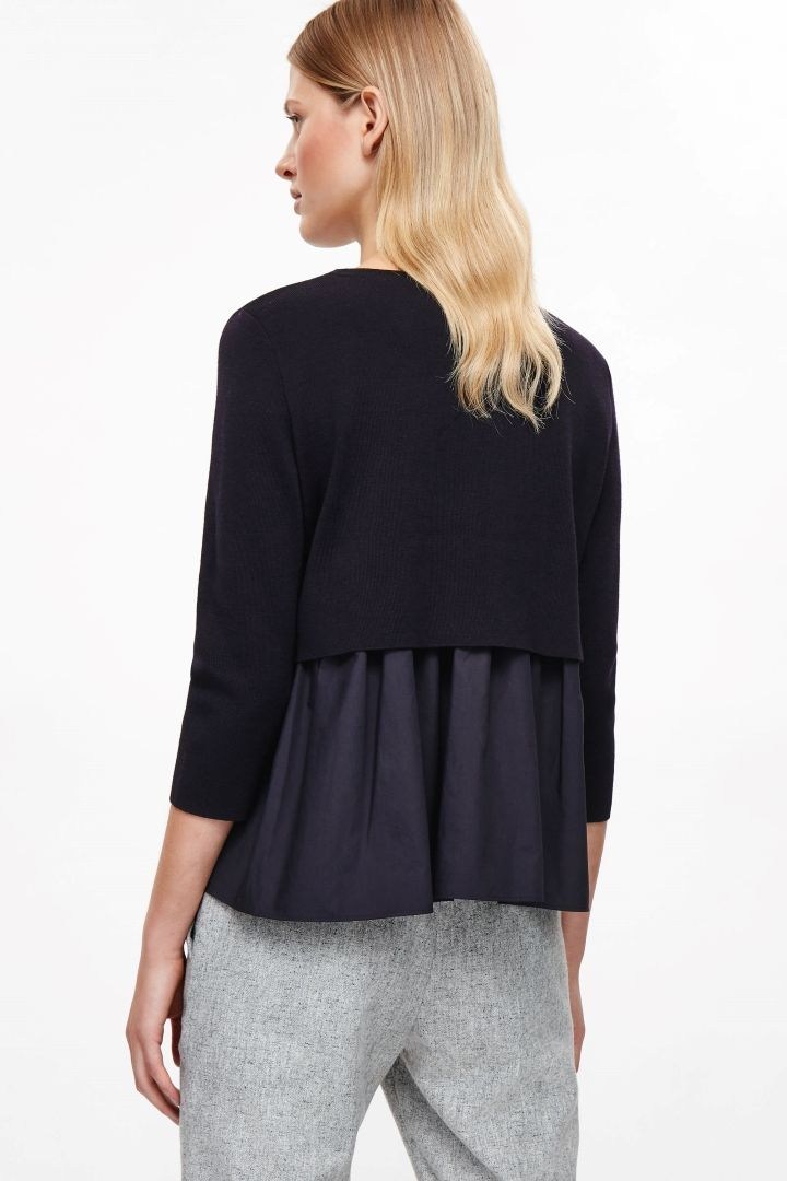 COS image 13 of Top with layered back in Indigo