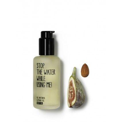 Fantástico aceite hidratante corporal de almendras e higo, hidrata y protege la piel de la marca de cosmética natural Stop the water