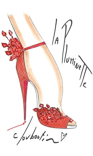 Christian Louboutin 20th Anniversary Capsule Collection sketch