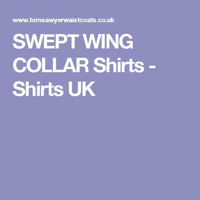 SWEPT WING COLLAR Shirts - Shirts UK