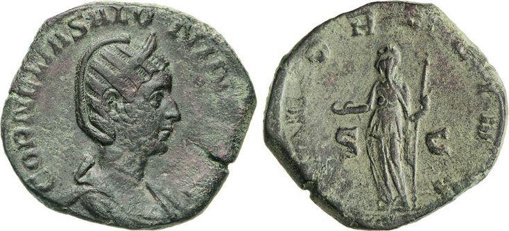 NumisBids: Numismatica Varesi s.a.s. Auction 65, Lot 255 : SALONINA (moglie di Gallieno) Sesterzio. D/ Busto diademato e...