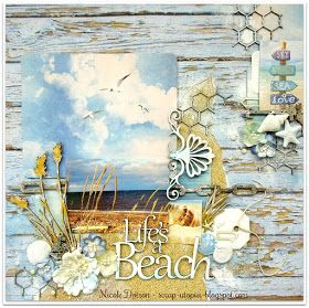 ScrapBerry's: Beach lay-out made by Nicole Doiron with the Antique Shop collection.