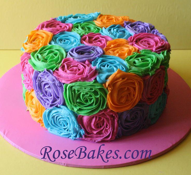 Rose Cake - easy decorating idea!