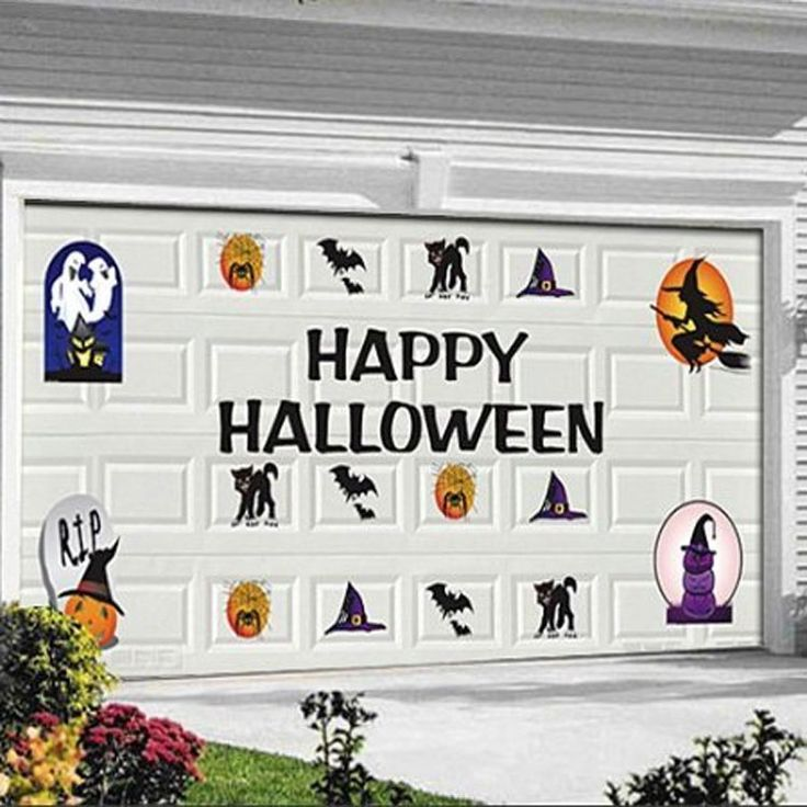 Les 25 meilleures id es de la cat gorie garage halloween for Decoration pour porte de garage