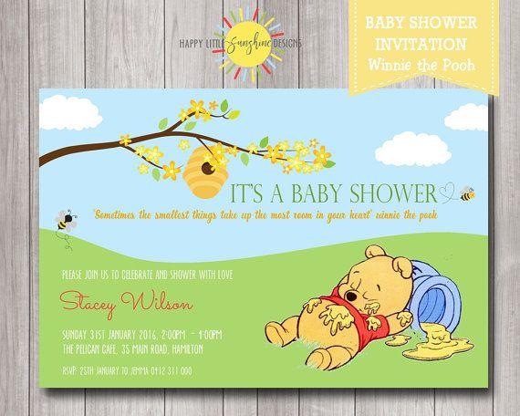 Printable Custom Winnie the Pooh Baby Shower Invitation