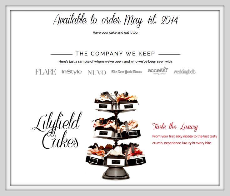 Our new website!! check it out!!  www.lilyfieldcakes.com #lilyfieldcakes #LFC #cakes #vanilla #coconut #chocolate #pattcakes #winnipeg #flowers #events #partyfavors #giftidea