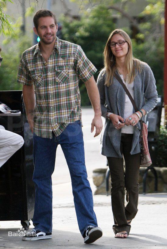Paul Walker with girlfriend