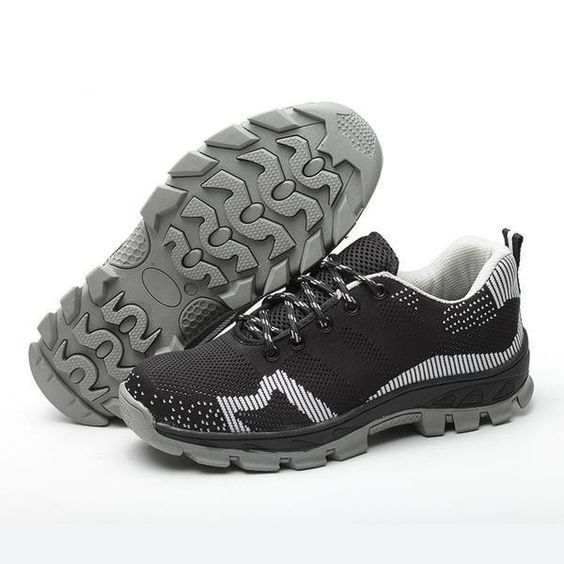 Comfortable Breathable Air Mesh Steel-Toe Work Shoes 4 Colors